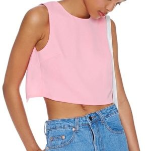 nasty gal On Balance Open Back Crop Top